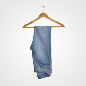 Faint Washed Denim Blue Jeans